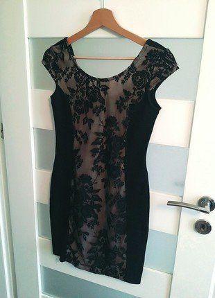 Kup mój przedmiot na #vintedpl http://www.vinted.pl/damska-odziez/krotkie-sukienki/16449215-amisu-sukienka-koronka-roze-floral-piekna-wieczorowa-s-m-bez-czern