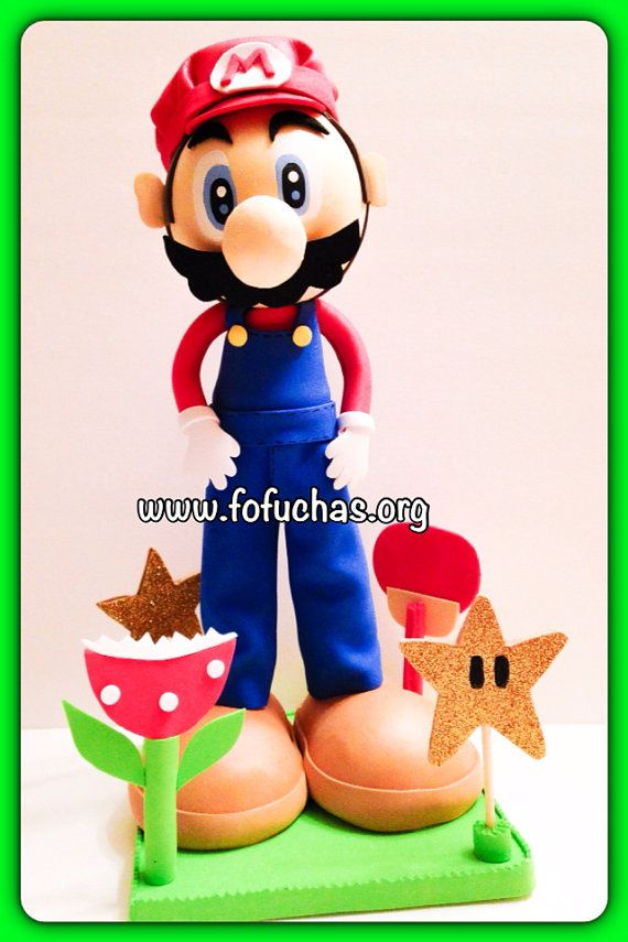 Mario Bros. Fofucha Foam Doll by CrochetNFofuchas on Etsy, $30.50  #MarioBros #Fofuchas #Birthday