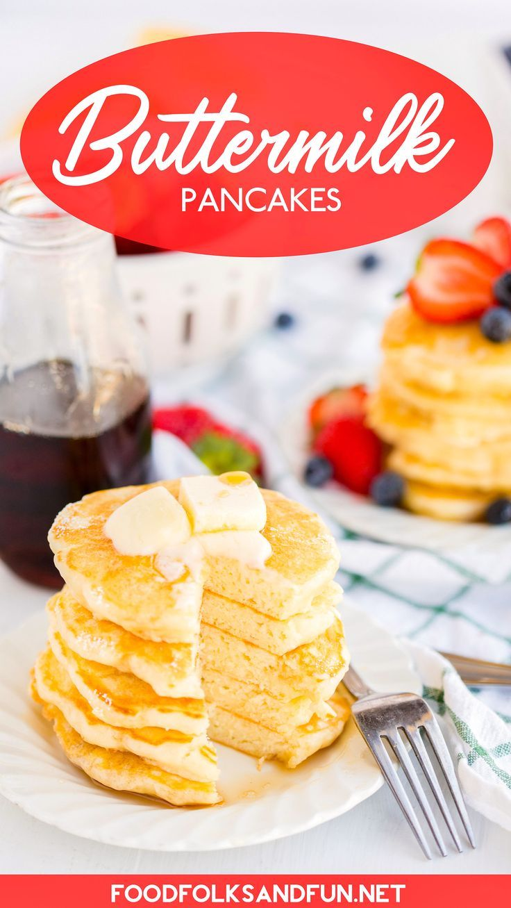 Say Goodbye To Boxed Pancake Mix Because These Fluffy Buttermilk Pancakes Are Buttery And Have The Buttermilk Pancakes Food The Best Buttermilk Pancake Recipe