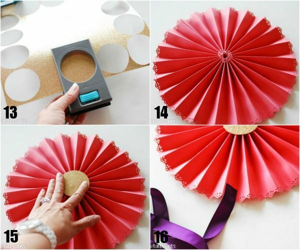 Looking to make a big statement at your next party? Learn how to make paper medallions - a simple project that will make a huge impact.