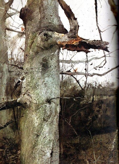 ANDREW WYETH  http://www.widewalls.ch/artist/andrew-wyeth/ #AndrewWyeth #realism #painting: