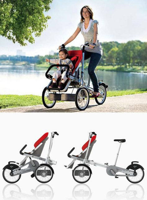 Bike that converts to a stroller - by Taga