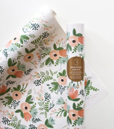 Rifle Paper Co: Wildflower Wrapping Sheets, 3 sheets for $8.50...these could be applied to a wall/nook with liquid starch as removeable wallpaper