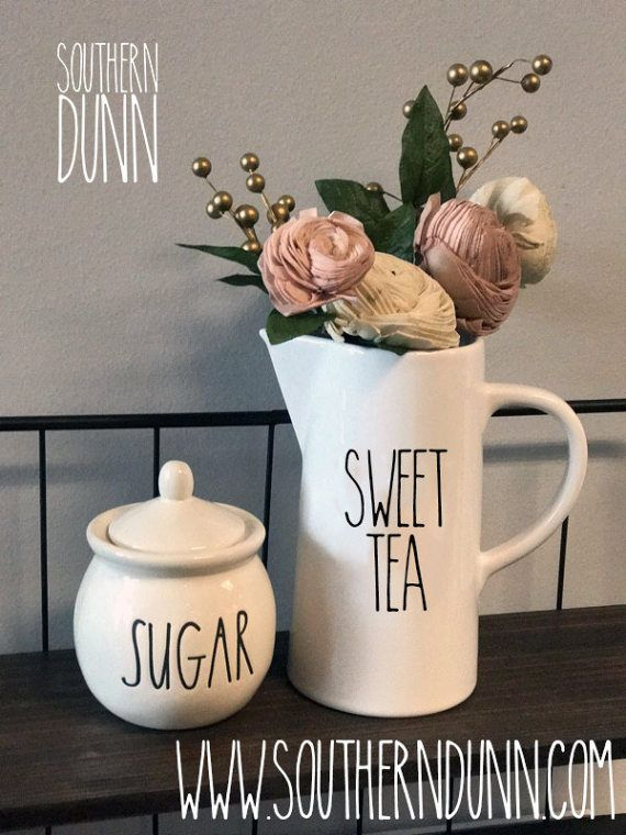 Rae Dunn Inspired SWEET TEA Decal by SouthernDunn on Etsy