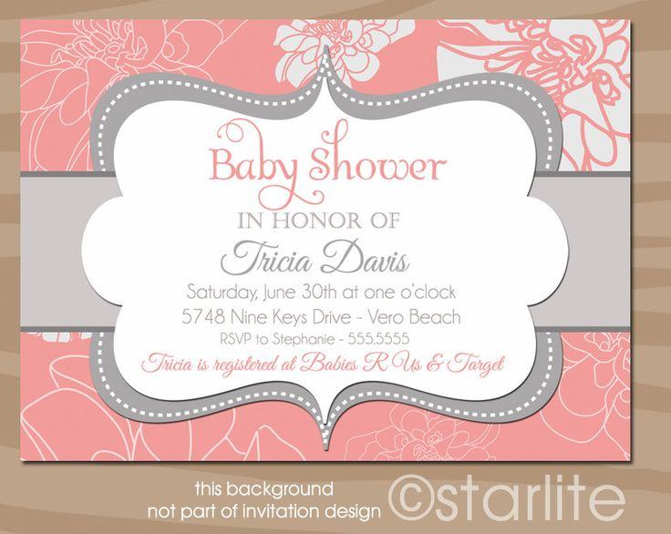 20 best coral teal baby shower images on pinterest coral baby coral passion coral and gray grey baby shower invitation printable invitation design filmwisefo