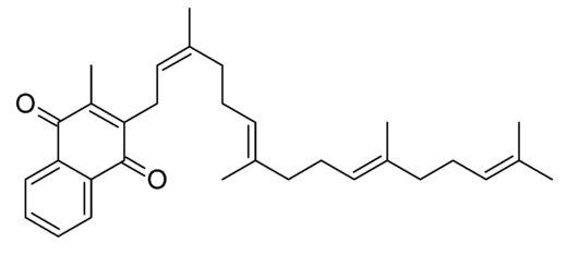 Structural formula of menatetrenone