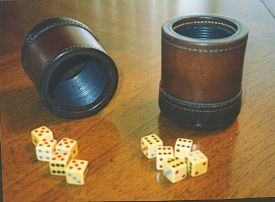 Lying is an inherent characteristic of human beings that has progressed and evolved as human intelligence has. This has led to games that completely revolve around the concept of lying and deceiving other people. 'Liars Dice' is a key example where dice are rolled and hidden from other players. Players then bet on the outcomes but players can give false information regarding their rolled outcomes. E.g. they could say they have three fours but in fact only have two.