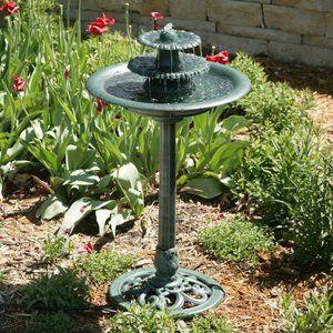 Alpine Avant Garden Three Tier Bird Bath Fountain