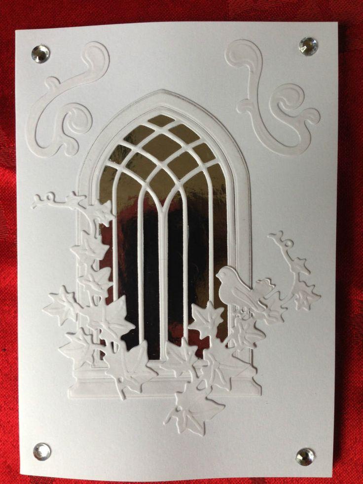 Wedding Card, Christening Card, Sympathy Church Window (Silver) Hand Made Easter   eBay