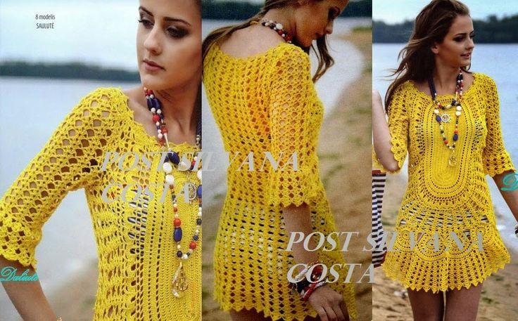 Roupas Artesanais: Vestido Amarelo