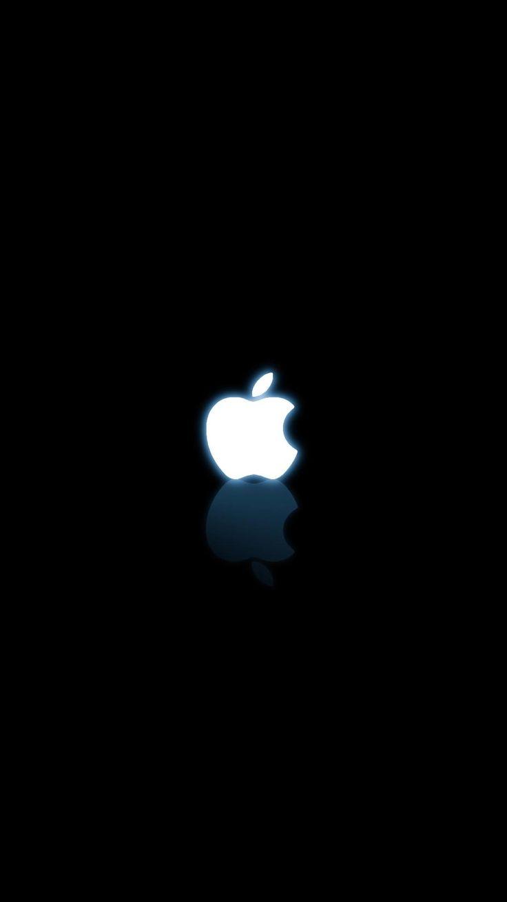 モノクロAppleロゴ - iPhone6壁紙