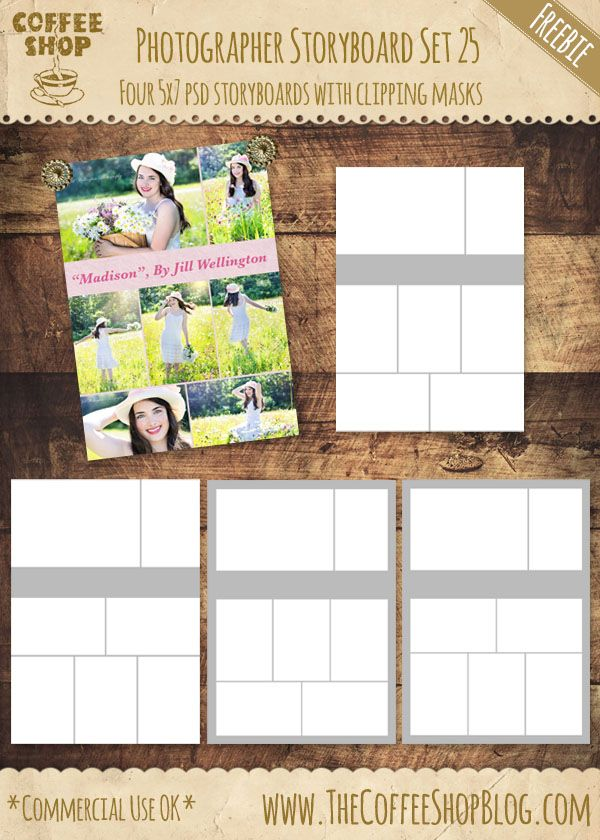 Free Storyboard set - collage templates - CoffeeShop Blog