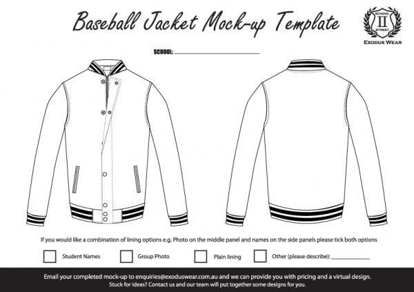 Exodus Wear Baseball Jacket Design Template