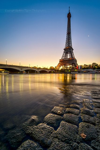 Ahh!! ...Sunrise in Paris, next stop on the road trip...