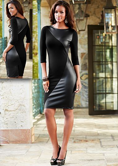 In love with Venus clothing xD this dress is awesome!  http://www.venus.com/viewproduct.aspx?BRANCH=7~72~&ProductDisplayID=19412&dept=Venus+Clothing-Dresses&prod=faux+leather+panel+dress%2c+heel+