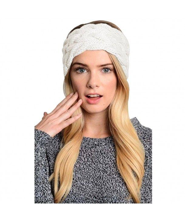 d724f8b4 Womens Winter Knitted Headband Crochet Twist Hair Band Headwrap Hat ...