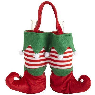 Elf Legs Fabric Wine Bag