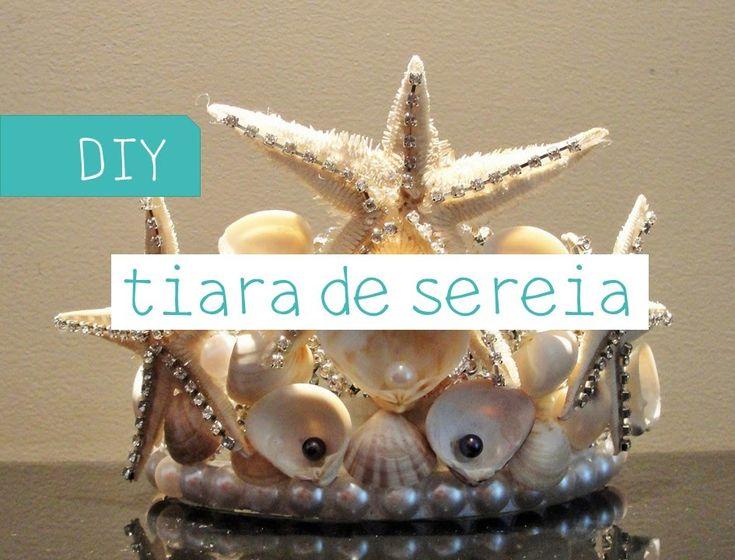 Tiara de Sereia feita com coroa de princesa de 1.99, super fácil! Têndencia para…                                                                                                                                                                                 Mais