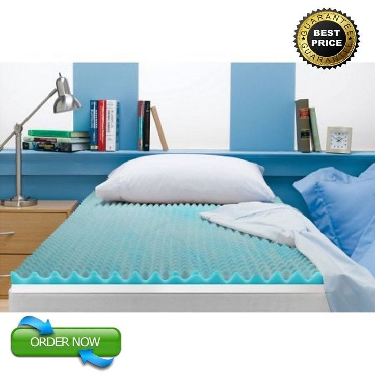 Gel Memory Foam Mattress Topper Full Size 3 Inch Cooling Spa Zoned Fusion Bed