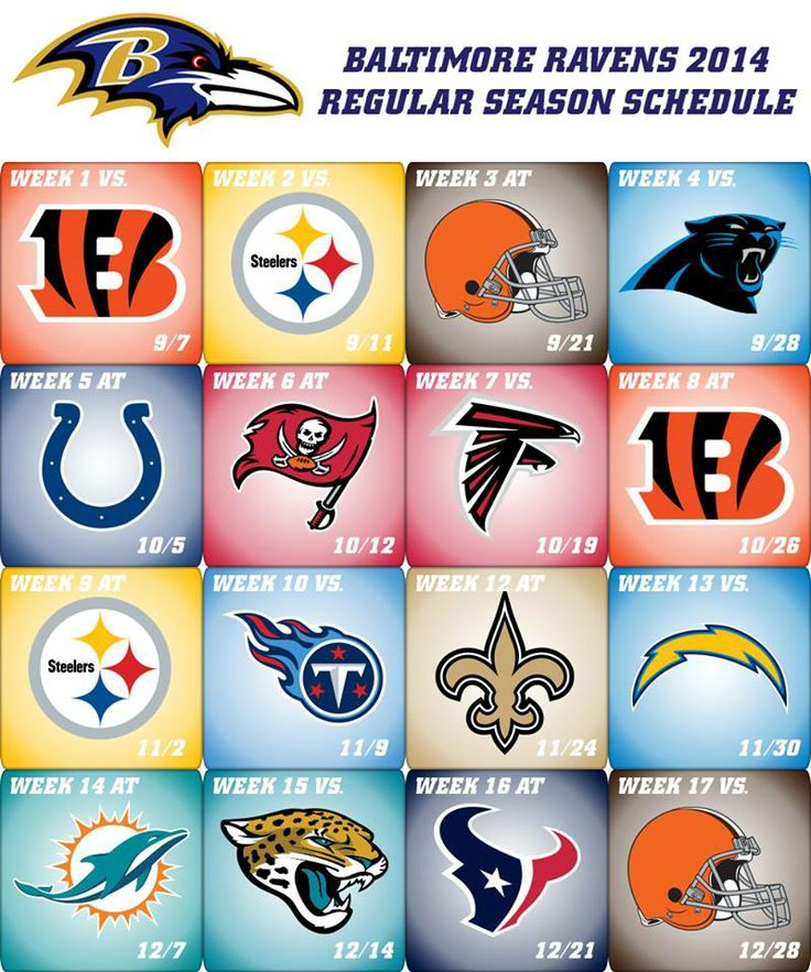 The Ravens will open the season at home vs. the Bengals and then host the Steelers 4 nights later!