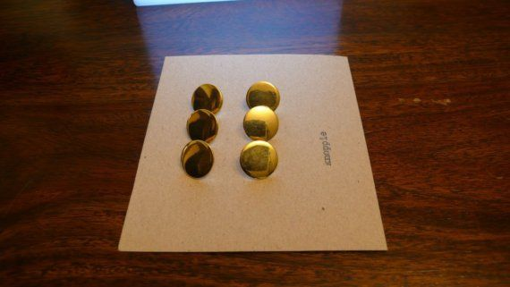 6 x Gold on Etsy, $4.00 AUD