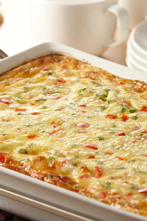 Try a new twist on a classic breakfast casserole recipe with Zatarain's Jambalaya mix. This easy casserole combines eggs, Monterey Jack cheese, red bell peppers and green onions. Make the jambalaya rice mixture the night before for easy prep in the morning.