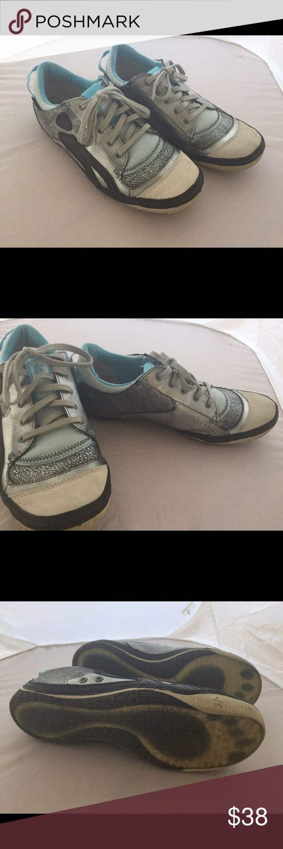 Cushe Silver/Blue Boutique Sneak Lace-up Size 10 Sassy sneakers! Be spicey and sporty in these rarely worn sneaks. Euro size 41, US 10. Cushe Shoes Sneakers