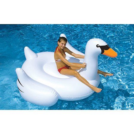 Giant Swan Inflatable Pool Toy, Multicolor