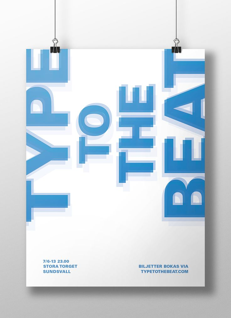 Poster for the typographic, music festival Type To The Beat