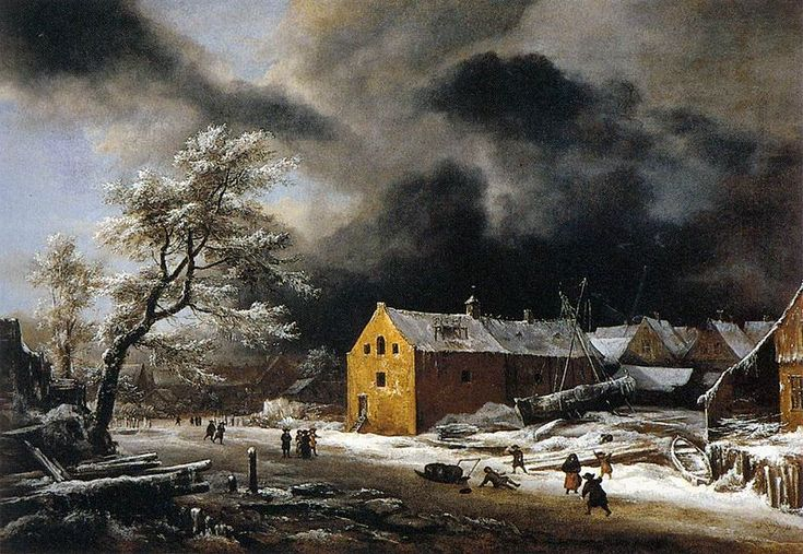 Jacob van Ruisdael - Winter Landscape