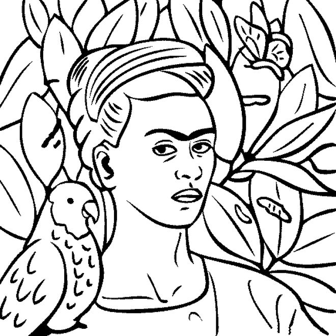 "frida kahlo coloring pages | 84 best iColor ""Masterpieces-Van Gogh"" images on Pinterest ..."