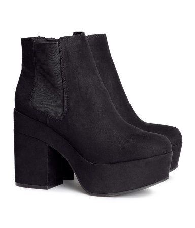 Product Detail | H&M US MOM. BESIDES THE PLATFORM ITS LESS THEN A 3 IN HEEL. :) :) :)