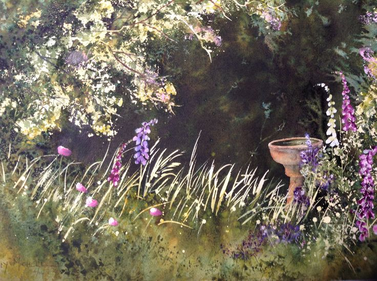 Secret garden - Watercolour - 2014. Featured as step by step project in October edition of Australian Artist