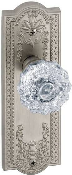 Grandeur Parthenon Longplate Interior Door Handle w/ Crystal Knob | ATG Stores