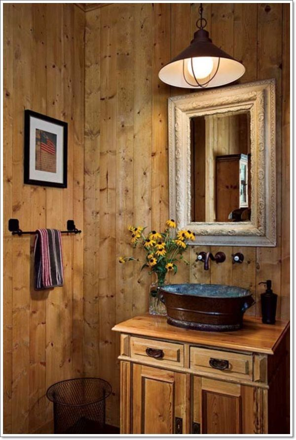 17 best ideas about small rustic bathrooms on pinterest