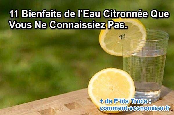Buvez de l'eau citronnée dès le réveil, et attendez 15 à 30 minutes avant de prendre votre p'tit déjeuner. C'est la meilleure façon pour profiter pleinement des 11 bienfaits du citron listés dans cet article :-)  Découvrez l'astuce ici : http://www.comment-economiser.fr/bienfaits-eau-citronnee.html?utm_content=buffere25e5&utm_medium=social&utm_source=pinterest.com&utm_campaign=buffer
