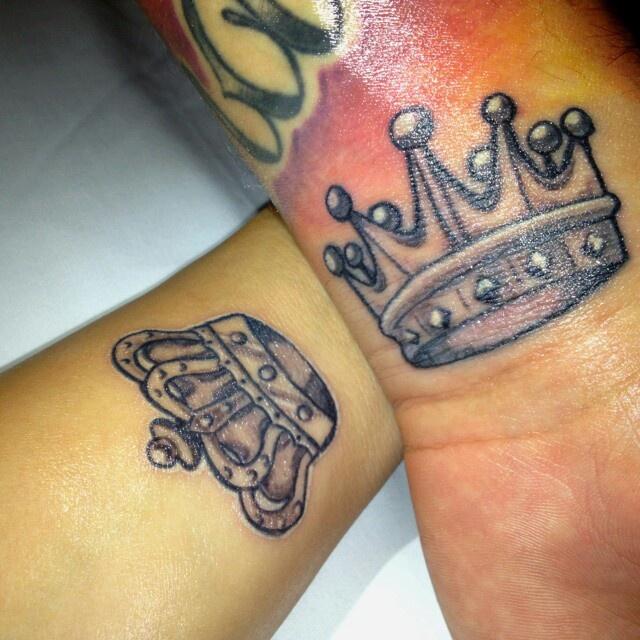 King crown symbol tattoo