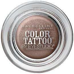 Ink intensity. Tattoo tenacity. Dare to wear the longest lasting shadow. Maybelline's Eye Studio Color Tattoo's ink technology creates the most saturated shadow..