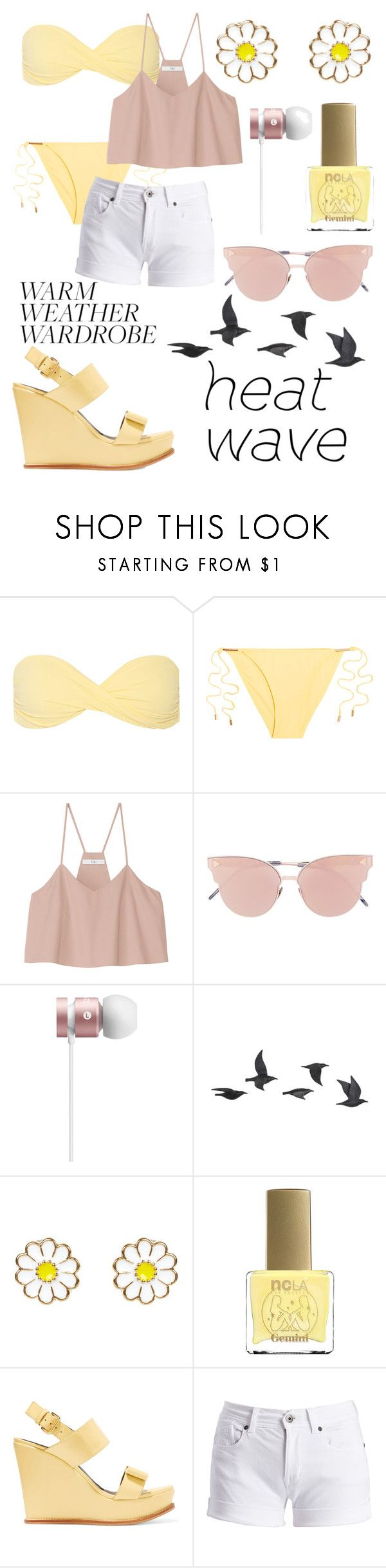 """Untitled #58"" by avastegall ❤ liked on Polyvore featuring Melissa Odabash, TIBI, So.Ya, Jayson Home, Monsoon, ncLA, Marni and Barbour International"