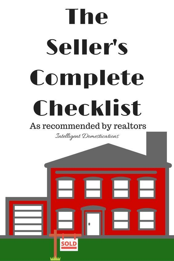 Seller's Complete Checklist of things to do when preparing your house for sale. How to sell your home fast! House for sale tips. #homesellingchecklist