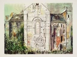 John Piper, St Amand de Coly, Dordogne