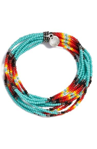 Chan Luu Patterned Seed Bead Stretch Bracelet                              …