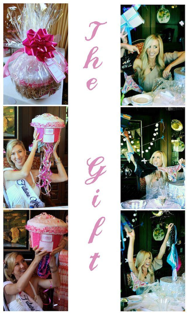 Linen, Lace, & Love: Bridal Shower Ideas: Part 1Bachelorette Parties, Gift Ideas, Bridal Shower Ideas, Bachelorette Gift, Bridal Shower Presents, Panties Pinata, Lingerie Shower, Shower Gift, Bridal Showers