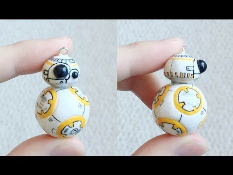 Star Wars Sphero BB-8 polymer clay charm tutorial