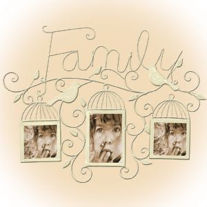 "Metal Wall Art Family Photo frame 58x46cm ( 23"" by 18"" ) by thehomedesignstore on Etsy"