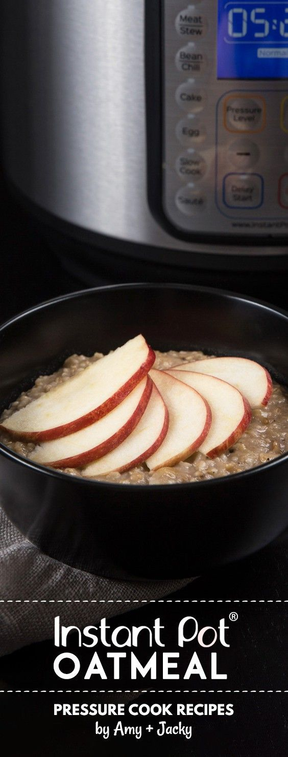Make Hearty Instant Pot Oatmeal Recipe (Pressure Cooker Oatmeal): Creamy apple cinnamon oatmeal that comfort your heart. Easy