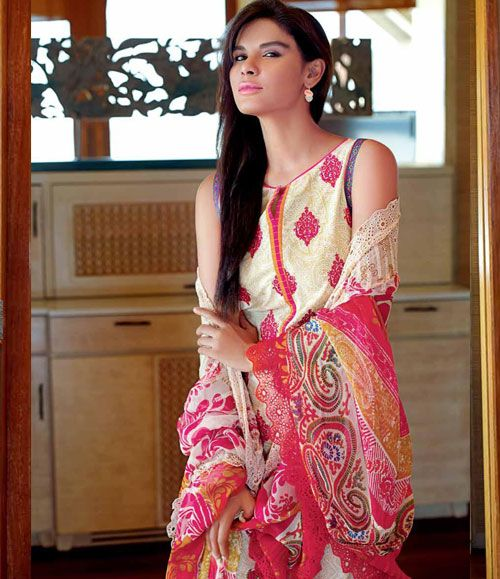 Gul Ahmed Embroidered Chantilly Chiffon Collection Vol-1 CT-79B