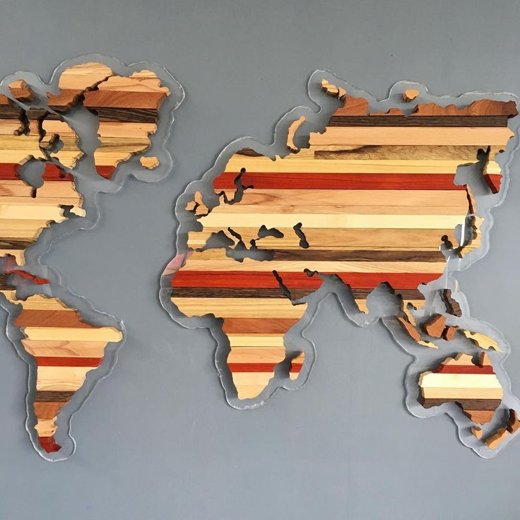 Wooden World Map. карта мира из дерева.