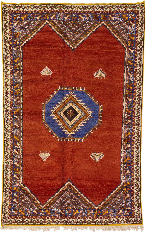 Diy reclaimed wood bathroom shelves edea smith - Red 6 6 X 10 2 Tribal Moroccan Rug Oriental Rugs Esalerugs
