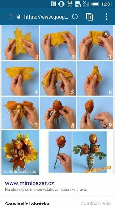 Květy z listí